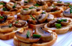 Mushroom and Herb Crostini  Noblepig.com