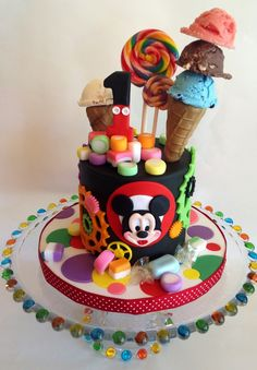 All decorations edible art including ice cream cupcakes candy hat