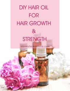 DIY hair oil for Hair Growth and Strength Diy Hair Growth Oil, Diy Hair Oil, Natural Hair Growth, Humid Weather, Oily Scalp, Hair Breakage, Hair Quality, Strong Hair, Dandruff