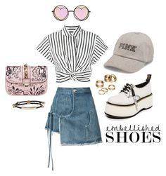 """""""SWAG #21"""" by bhgrace ❤ liked on Polyvore featuring T By Alexander Wang, Sandy Liang, Betsey Johnson, Valentino, R13, Victoria's Secret, Alexander McQueen and Apt. 9"""