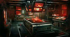 Deus Ex: Human Revolution concept art by Eric Gagnon Spaceship Interior, Futuristic Interior, Science Fiction, Blade Runner, Wallpaper 3840x2160, Deus Ex Human, Interior Concept, Interior Design, Cyberpunk Art