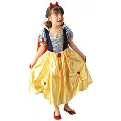 Junior Platinum Disney Snow White Costume - A Fancy Dress Costume Snow White Costume, White Costumes, Fancy Costumes, Dress Up Costumes, Girl Costumes, Costume Ideas, Disney Fancy Dress, Disney Princess Dresses, Seven Dwarfs Costume