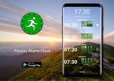 This app is an alarm clock which you can turn off by making some fitness activities, which are measured by the motion sensors in your smartphone.