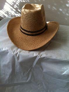 eab9d068f1e48 Vintage straw cowboy hat by carolmouse58 on Etsy