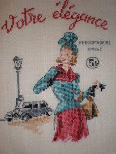 Vintage Broderie Echo de la Mode point de croix