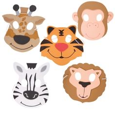 Foam Wild Animal Masks