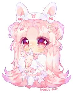 Chibi comm for oimayo ///this was supposed to be a halfbody//sorry again ; Chibi Kawaii, Cute Anime Chibi, Kawaii Anime Girl, Kawaii Art, Anime Art Girl, Manga Girl, Chibi Characters, Cute Characters, Chibi Sketch