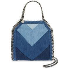 Denim Handbags, Denim Tote Bags, Denim Purse, Blue Handbags, Purses And Handbags, Falabella Bag, Design Bleu, Mini Mochila, Purse Wallet