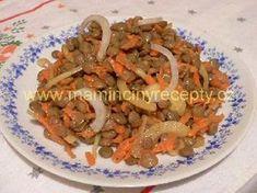 83 Čočkový salát s mrkví Japchae, Salads, Food And Drink, Vegetarian, Ethnic Recipes, Diet, Bulgur, Salad, Lettuce