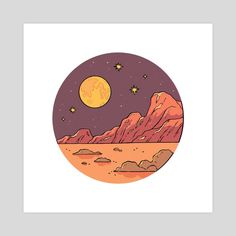 This is a gallery-quality giclèe art print on cotton rag archival paper, printed with archival inks. Desenho Harry Styles, Different Drawing Styles, Art Painting Gallery, Moon Drawing, Cd Art, Moon Painting, Small Paintings, Moon Art, Art Day