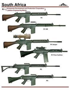 Africa has basically adopted the same rifle as a large number other states, the FN Fal. A or 308 battle rifle, a lot like a more modern Military Weapons, Weapons Guns, Airsoft Guns, Guns And Ammo, Assault Weapon, Assault Rifle, Battle Rifle, Fire Powers, Weapon Concept Art