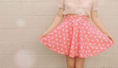 circle skirt no zipper