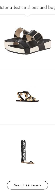 """""""Victoria Justice shoes and bags"""" by marilia13 ❤ liked on Polyvore featuring shoes, sandals, buckle strap sandals, leather platform sandals, dr.scholls sandals, strappy leather sandals, black platform sandals, black, gladiator and open toe flats"""