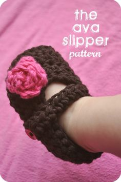 The Ava Slipper Baby Booties Crochet PATTERN by LittleBirdieShoppe, $4.00