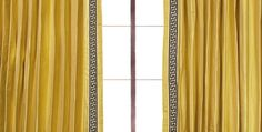 The Perfect Custom Golden Curtain by DrapeStyle Custom Drapes, Custom Drapery Panels, Drapes And Blinds, Yellow Curtains, Yellow Drapes, Curtains, Curtain Patterns, Drapestyle, Solid Curtains