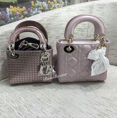 9cdc6737556a Perforated Metallic Pink Lady Dior Micro vs Lambskin Lady Dior Mini  Kukkarot Ja Pussit