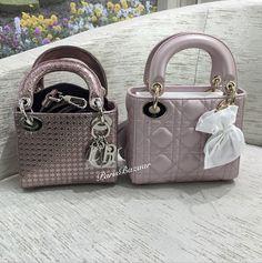 cb964f08f78 Perforated Metallic Pink Lady Dior Micro vs Lambskin Lady Dior Mini Lady  Dior Mini, Metallic