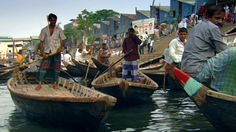 Rush hour in the Bangladeshi capital sees thousands of Dhaka's commuters boarding small wooden boats to cross the busy waters of the Buriganga river, one of the most dangerous waterways on Earth, especially for the ferrymen.