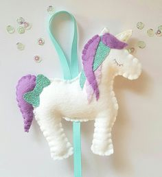 Unicorn hair clip holder. Personalised hair clip holder. Unicorn bow holder. Hair clip tidy. Unicorn room decoration. Unicorn bedroom . by Pippsybelle on Etsy