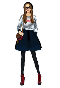 #AnnaLazareva #ParisFashion #digitalillustration #digital #illustration #fashion #Paris #clothing #style #stylish #LindgrenSmith