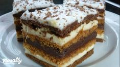 Két krémes mézes krémes | Nosalty Hungarian Desserts, Hungarian Cake, Cookie Recipes, Dessert Recipes, Homemade Crackers, Christmas Drinks, Food Cakes, Healthy Snacks, Food And Drink