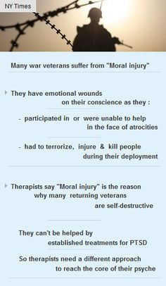 'Moral-Injury' is the reason many war veterans are self-destructive #vc #psychology #startup http://arzillion.com/S/Seemf2