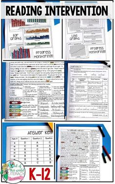 Teach Your Child to Read - The Reading Intervention Program from Level Ranges A-Z! Everything needed is included! - Give Your Child a Head Start, and.Pave the Way for a Bright, Successful Future. Reading Resources, Reading Strategies, Reading Activities, Reading Skills, Reading Lessons, Reading Tips, Reading Centers, Reading Intervention, Teaching Reading