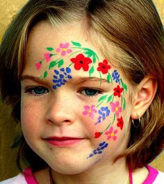 Simple Wild flower face paint
