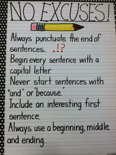 Writing anchor chart