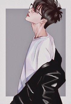 Dark Anime Guys, Cool Anime Guys, Handsome Anime Guys, Cute Anime Boy, Anime Boys, Anime Art Girl, Manga Anime, Digital Art Anime, Digital Art Girl