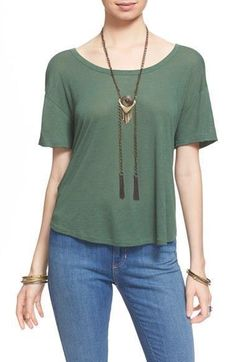 We The Free Free People Gemma Back Wrap Tee Size Small FTC #3373