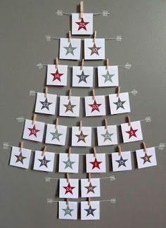 Magical and Creative DIY Advent Calendar Ideas You'll Love Christmas Countdown, Christmas Calendar, Advent Calenders, Diy Advent Calendar, Calendar Ideas, Wall Christmas Tree, Christmas Holidays, Christmas Offers, Xmas Tree
