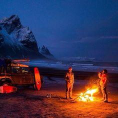 Campfire at the beach.