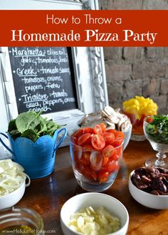 Learn how to throw a homemade pizza party ... it's easy with my tips! | Hello Little Home