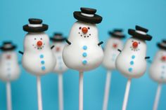 **SNOWMEN MIBNI CAKE POP's ~ Tips, tricks and Recipes for More than 40 irresistible Mini Treats.