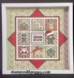 Christmas Collage, Candy Cane Lane designer paper, Cookie Cutter Christmas Bundle, stampwithpeggy.com