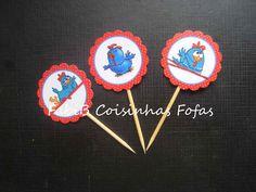 Galinha Pintadinha cupcakes tag