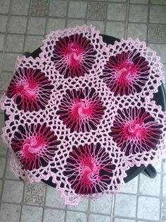 Toalhinha rosa - croche de grampo