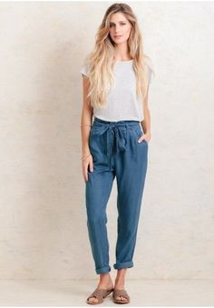 Sunday Drive Chambray Pants   Modern Vintage Clothing   Ruche