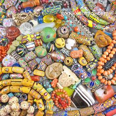 collection of various unusual beads and old beads availabe in our shop goodoldbeads.com