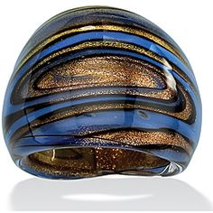 @Overstock - Domed blue, black and bronzetone ringGlass jewelryClick here for ring sizing guidehttp://www.overstock.com/Jewelry-Watches/Blue-Black-and-Bronzetone-Glass-Dome-Ring/6641318/product.html?CID=214117 $8.99
