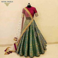 Brocade Lehenga, Lehenga Saree Design, Half Saree Lehenga, Lehnga Dress, Indian Lehenga, Lehenga Designs, Lehenga Choli Wedding, Raw Silk Lehenga, Banarasi Lehenga