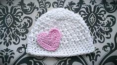 White Baby Girl Hat Crochet Baby Girl Hat by CutestlittleThing, $19.00
