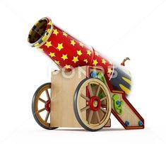 Circus cannon isolated on white background. Halloween Circus, Halloween Themes, Fall Halloween, Happy Halloween, Circus Poster, Circus Art, Carnival Booths, Carnival Ideas, Carnival Games
