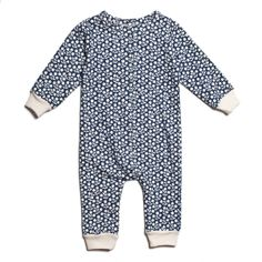 6ddd0ce2b91 French Terry Jumpsuit - Berries Navy Cute Little Baby