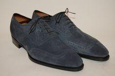 Vendôme Blue Suede, last 002 Men's Shoes, Shoe Boots, Dress Shoes, Shoes Men, Cool Outfits For Men, Blue Suede Shoes, Classic Man, Shoe Game, Oxford Shoes