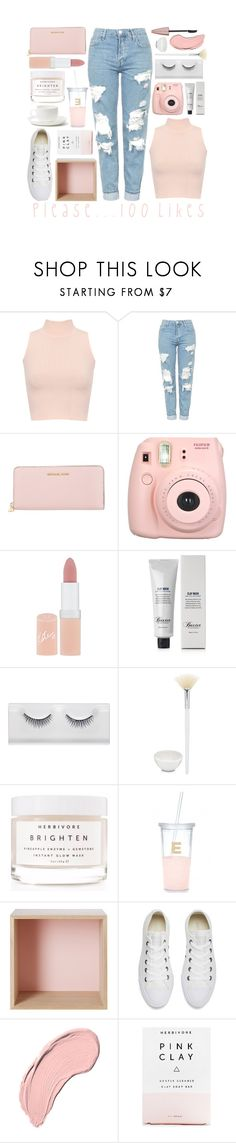 """""""Please... 100 Likes"""" by princessfo-eva ❤ liked on Polyvore featuring WearAll, Topshop, MICHAEL Michael Kors, Fujifilm, Rimmel, Baxter of California, Herbivore, David Mellor, Kate Spade and Muuto"""