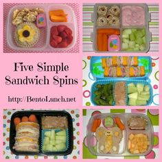 Great idea!!! BentoLunch.net - Whats for lunch at our house: sandwich spin