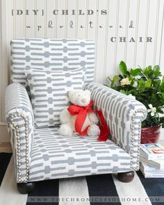 The Chronicles of Home: How to Upholster a Chair. One of the better tutorials on chair upholstering.