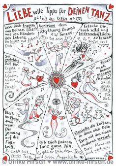 """Postcard """"Loving Dance Tips"""" – - Top-Trends Positive Mantras, Positive Vibes, Dance Tips, Sketch Notes, Switch Words, Magic Words, German Language, Pretty Little Liars, Journaling"""